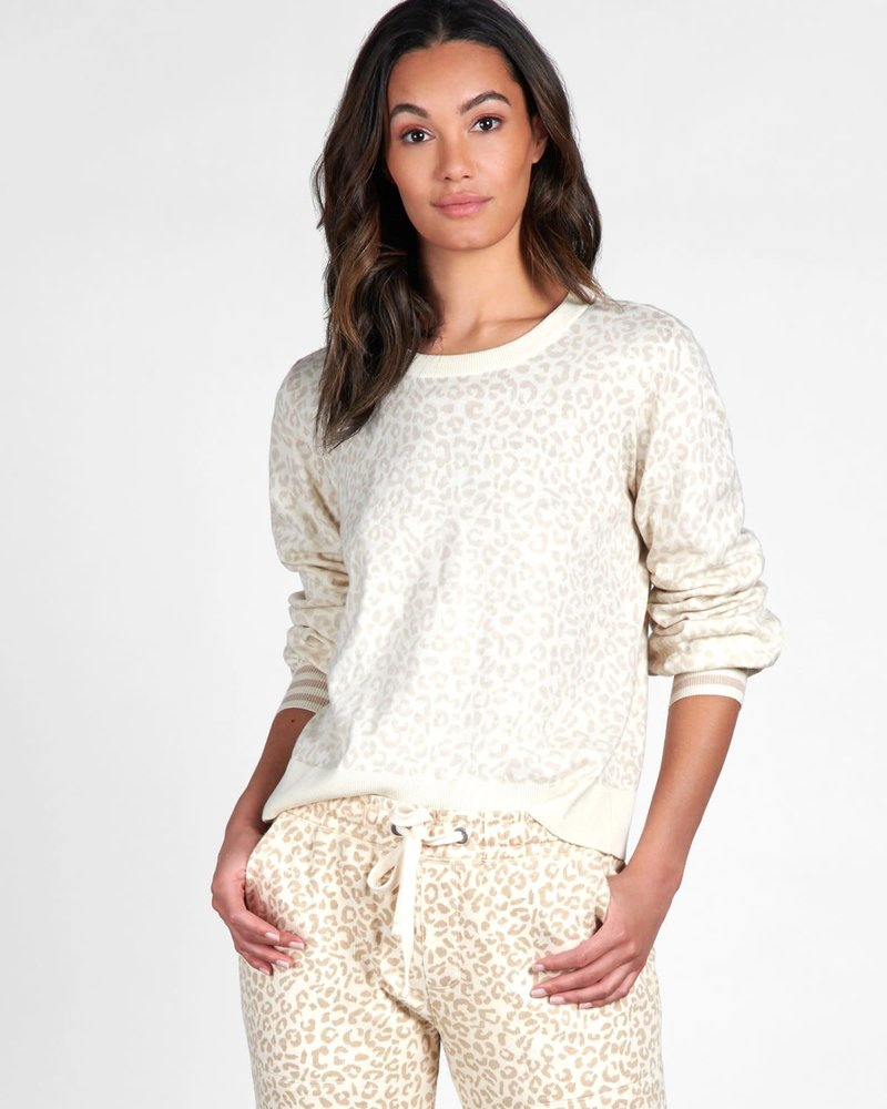 Sanctuary Clothing Sanctuary 'Barely Leopard' Pullover Sweater