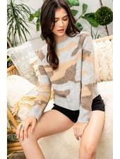 THML 'Hide & Seek' Camo Sweater