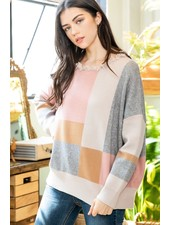 THML 'Unleash the Color' Oversized Sweater