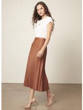 Cupcakes & Cashmere 'Trinity' Faux Leather Midi Skirt