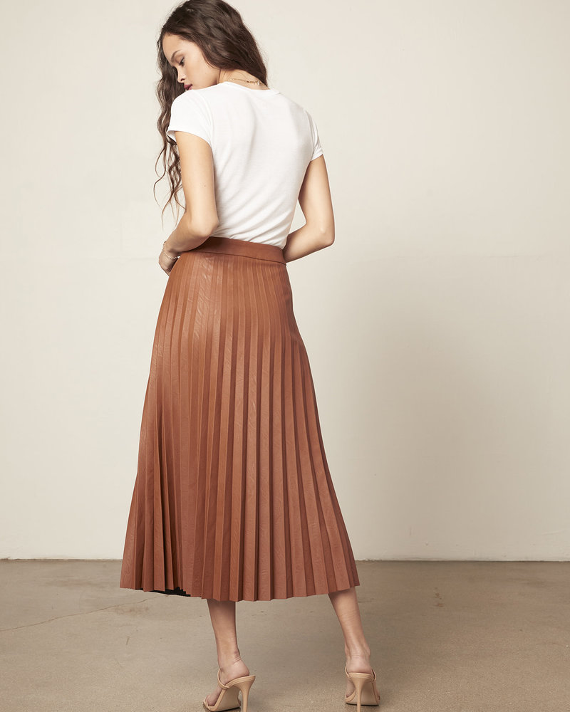 Cupcakes & Cashmere Cupcakes & Cashmere 'Trinity' Faux Leather Midi Skirt