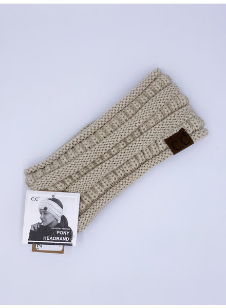 Fleece-Lined Knit Ponytail Headband (More Colors)