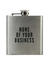 Swag Brewery Honest Flask | None of Your Business