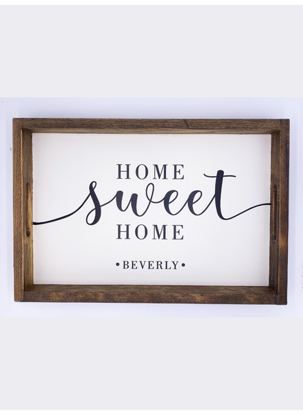 Marshes, Fields & Hills by Rustic Marlin Home Sweet Home 'Beverly' Serving Tray