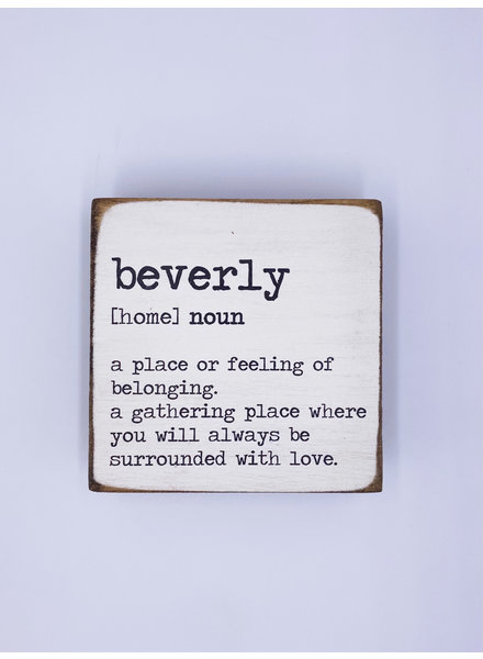 Rustic Marlin Personalized Definition Square Block | Beverly