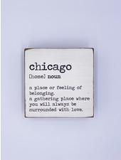 Rustic Marlin Personalized Definition Square Block   Chicago