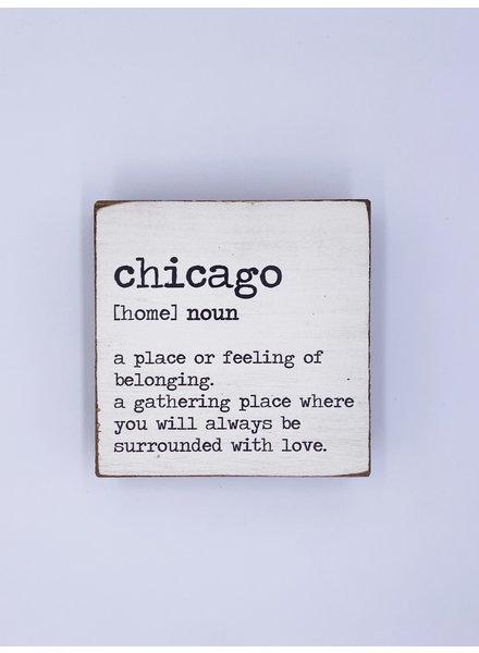 Rustic Marlin Personalized Definition Square Block | Chicago