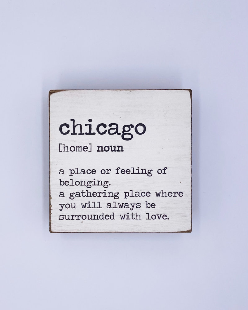 Marshes, Fields & Hills by Rustic Marlin Rustic Marlin Personalized Definition Square Block   Chicago