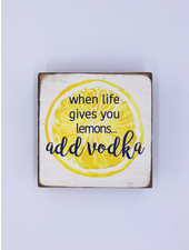 Marshes, Fields & Hills by Rustic Marlin 'Add Vodka' Square Block