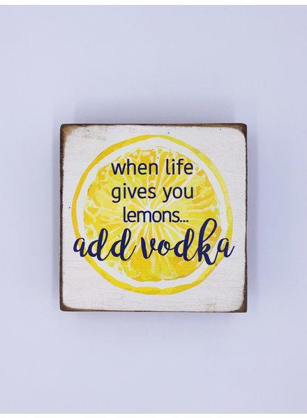 Rustic Marlin 'Add Vodka' Square Block