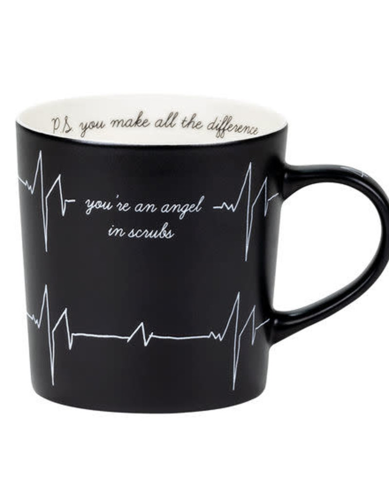 About Face Designs About Face Porcelain Mug | Angel in Scrubs