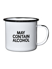 Swag Brewery Enamel Mug   May Contain Alcohol **FINAL SALE**