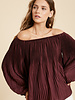 Wishlist Wishlist 'Swimming In Satin' Off Shoulder Pleated Top