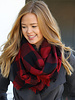 Belle Up Buffalo Check Infinity Scarf   Red & Black **FINAL SALE**