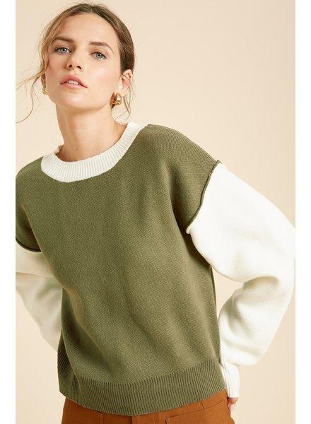 Wishlist 'Samantha' Colorblock Sweater