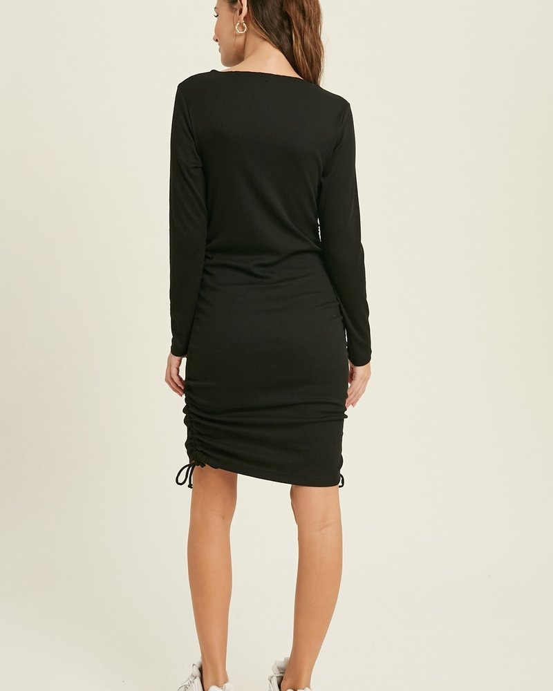 Wishlist Wishlist 'Fitted To The T' Ruched Bodycon Mini Dress