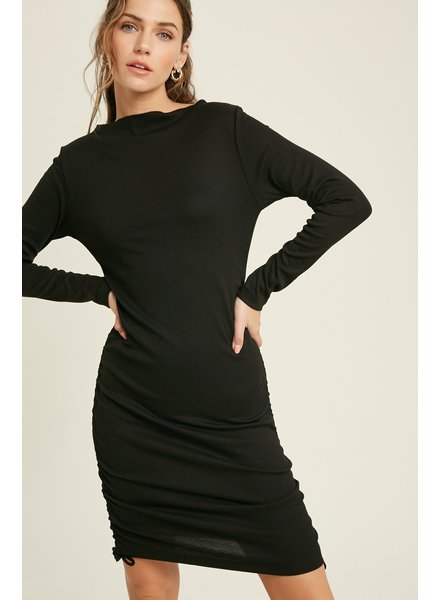 Wishlist 'Fitted To The T' Ruched Bodycon Mini Dress