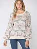 Fate by LFD Fate 'You Caught My Heart' Camo Sweater