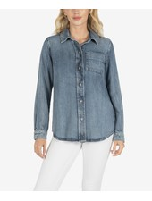 Kut from the Kloth 'Grace' Tailored Button Up Denim Shirt