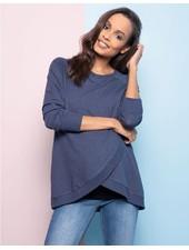 Seraphine Maternity Blue Marle 'Sybil' Front Wrap Sweatshirt