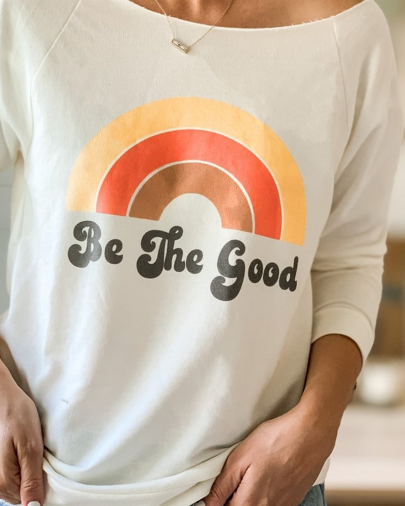 The Funnel Cake Tree The Funnel Cake Tree 'Be The Good' Raw Edge Pullover
