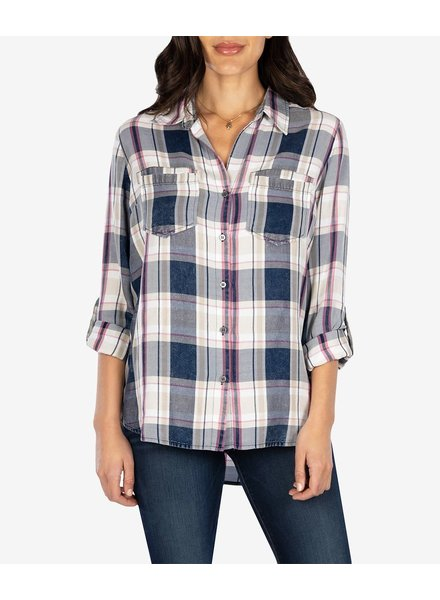 Kut from the Kloth 'Hannah' Plaid Button Up Shirt