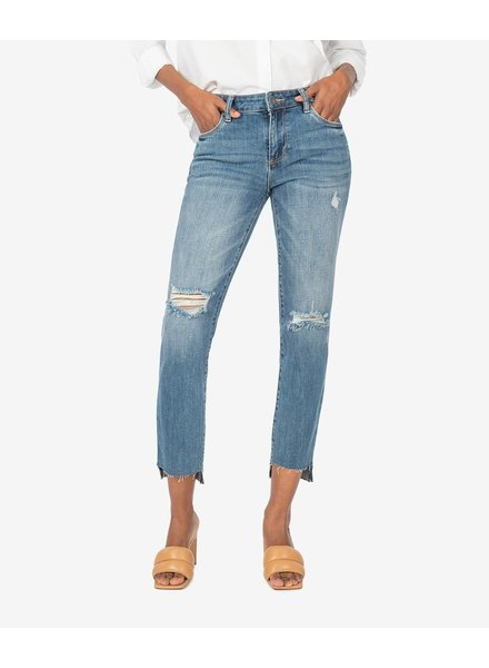 Kut from the Kloth 'Reese' Ankle Straight Leg Jeans in Ideally