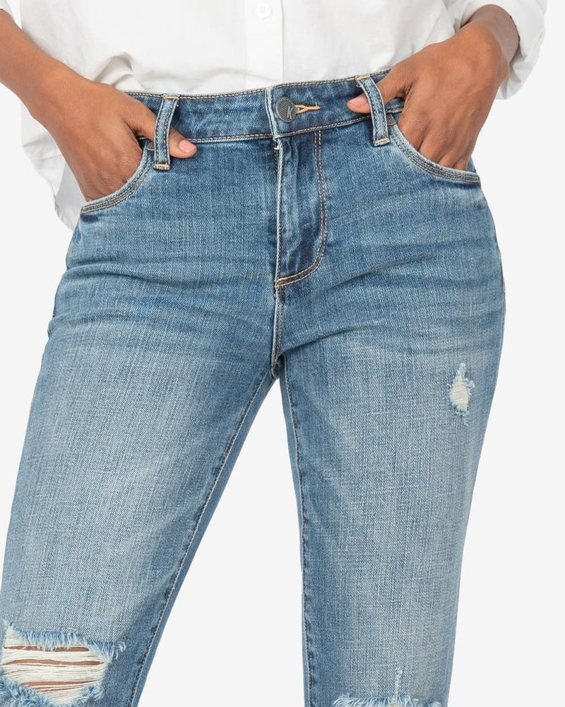 Kut from the Kloth Kut from the Kloth 'Reese' Ankle Straight Leg Jeans in Ideally