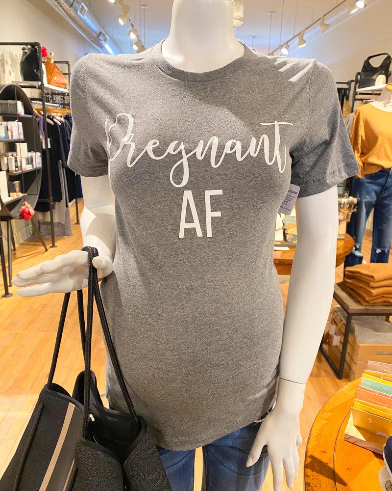 FAMS Design FAMS Design 'Pregnant AF' Tee