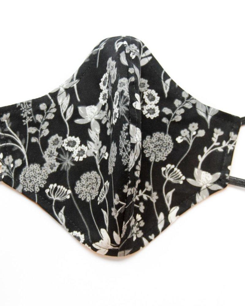 Artaya Loka Artaya Adult Face Mask | Black Wildflowers