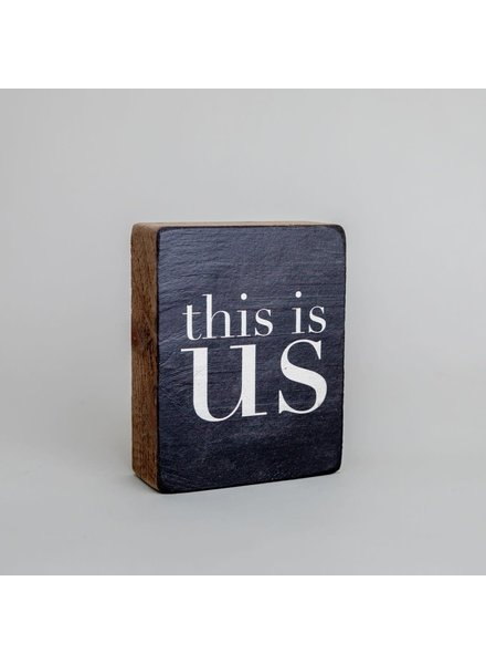 Marshes, Fields & Hills by Rustic Marlin 'This Is Us' Decorative Wooden Block
