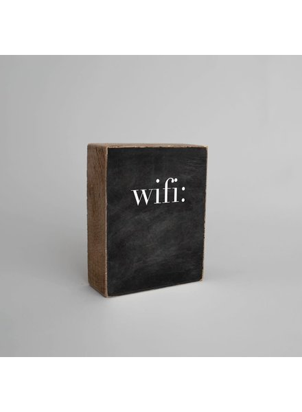 Marshes, Fields & Hills by Rustic Marlin 'Wifi' Chalkboard Decorative Wooden Block