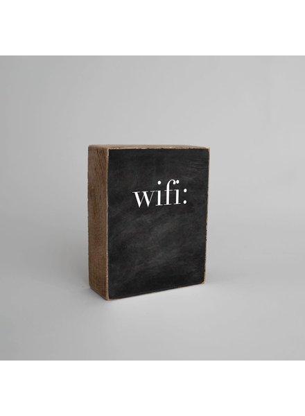 Rustic Marlin 'Wifi' Chalkboard Decorative Wooden Block