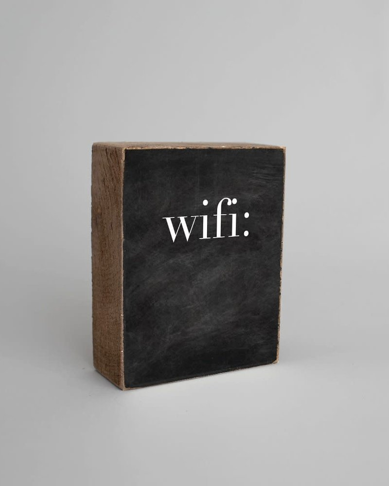 Rustic Marlin Rustic Marlin 'Wifi' Chalkboard Decorative Wooden Block