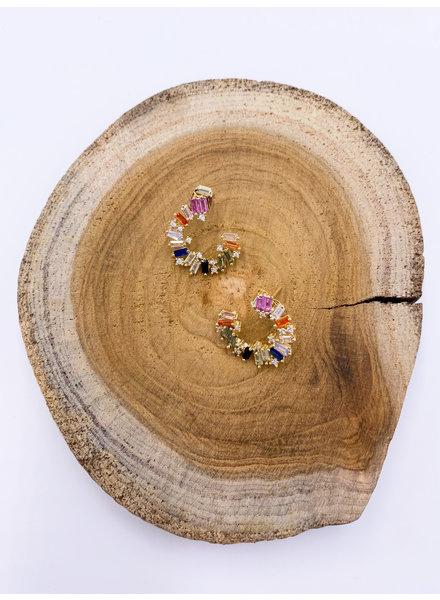 Must Have Multicolor C-Formation Baguette Earrings (More Colors)