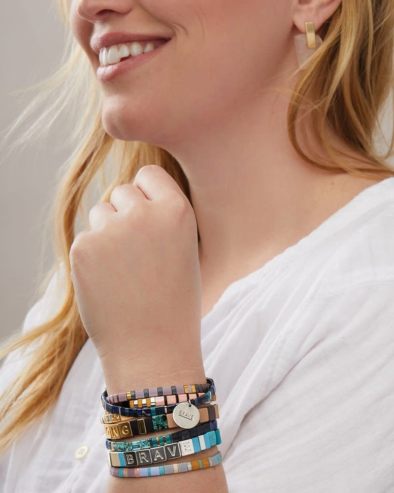 Scout Curated Wears Scout Empower Bracelet | Strong in Gold/African Turquoise/Jasper
