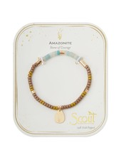 Scout Curated Wears Amazonite Stone Intention Charm Bracelet in Gold