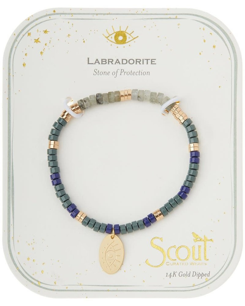 Scout Curated Wears Scout Labradorite Stone Intention Charm Bracelet in Gold