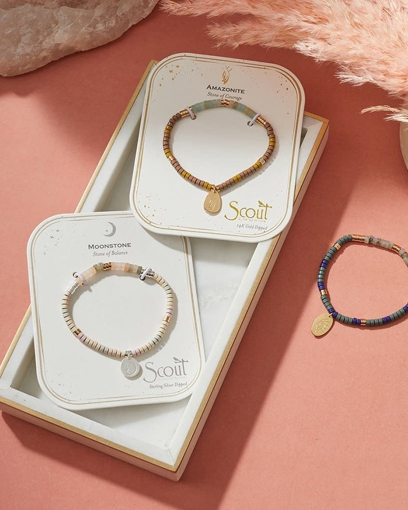 Scout Curated Wears Scout Moonstone Stone Intention Charm Bracelet in Silver/Gold