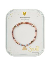 Scout Curated Wears Rhodonite Stone Intention Charm Bracelet in Gold