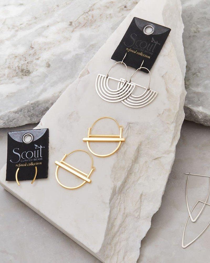 Scout Curated Wears Scout Saturn Hoop Earrings in 18K Gold Vermeil