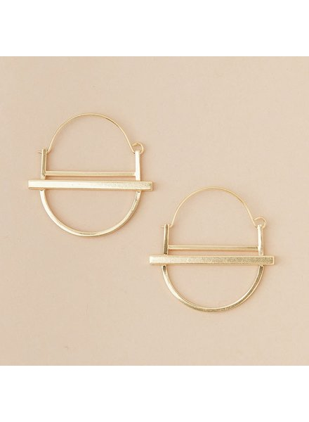 Scout Curated Wears Saturn Hoop Earrings in 18K Gold Vermeil