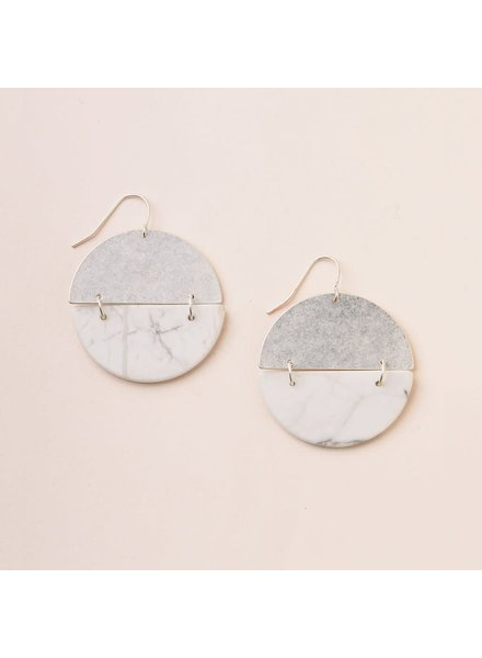 Scout Curated Wears Howlite & Silver Full Moon Stone Earrings