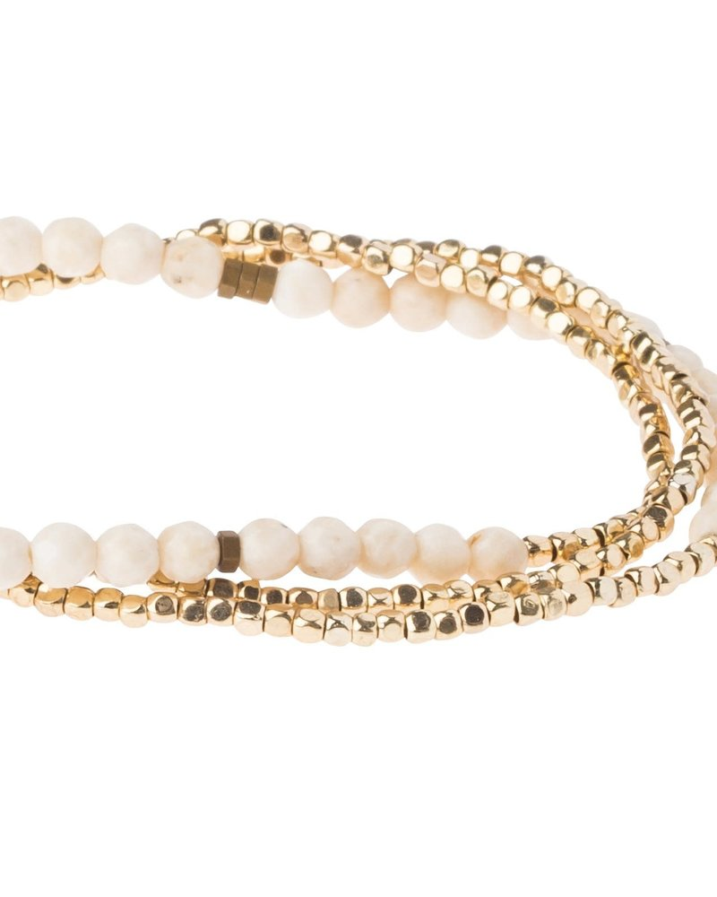 Scout Curated Wears Scout White Fossil Delicate Stone Wrap Bracelet/Necklace
