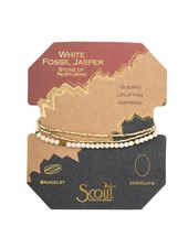 Scout Curated Wears White Fossil Delicate Stone Wrap Bracelet/Necklace