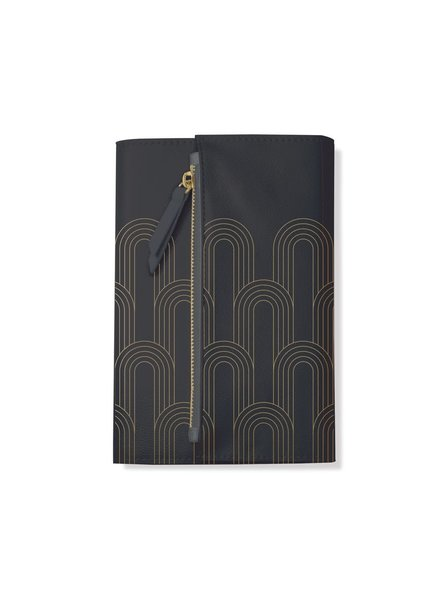 Fringe Studio Clutch Journal  | Charcoal Deco