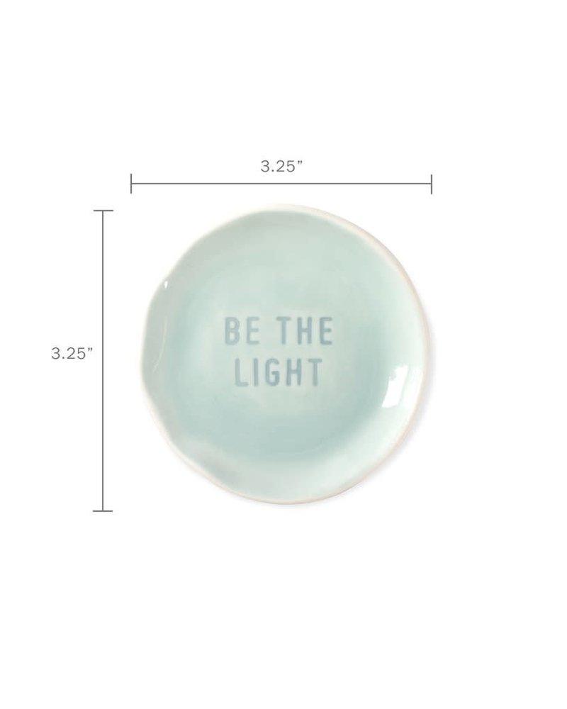 Fringe Studio Fringe Studio Organic Stamped Word Tray | Be the Light