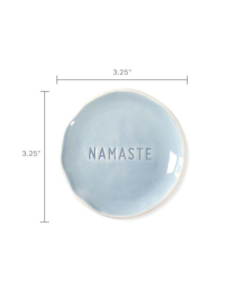 Fringe Studio Fringe Studio Organic Stamped Word Tray   Namaste