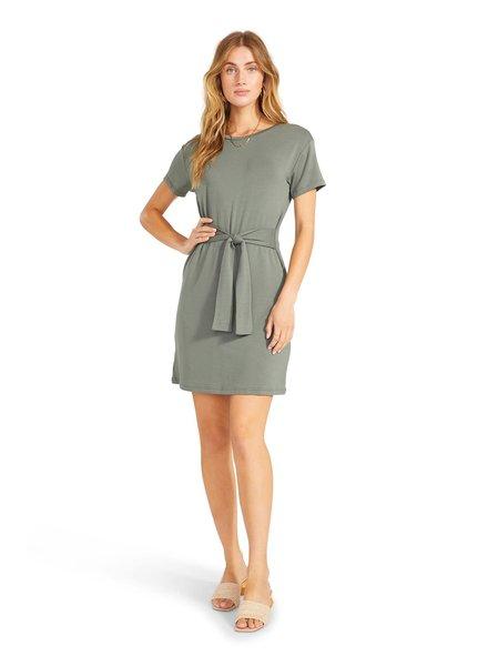 BB Dakota Surplus Green 'Sunrise' Tie Front Dress