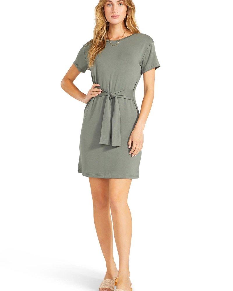 BB Dakota BB Dakota Surplus Green 'Sunrise' Tie Front Dress